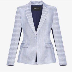 BCBGMAXAZRIA Theadore Blue Pinstripe Blazer Size S